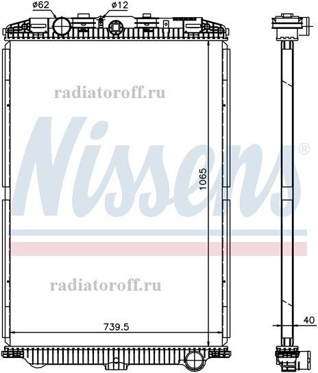 радиатор даф 105