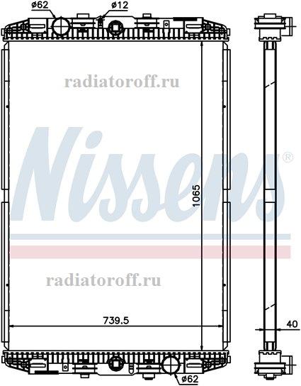 радиатор даф 95